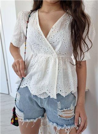 Elegantní mini sukně white 1039