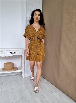 Beige šaty CUORE na zádech výstřih 1105