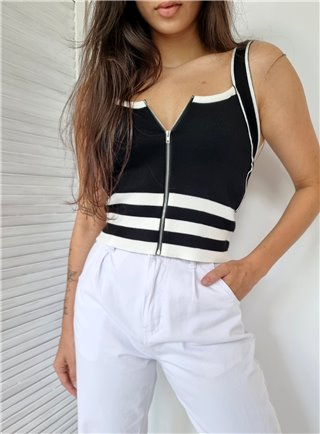 Komplet sukně + top FLOWER grey 2831
