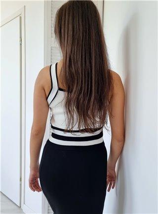 Bavlněné tričko PEONIA bianco 1309